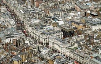 Vista aérea de Oxford Street