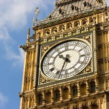 Big Ben clock tower detail