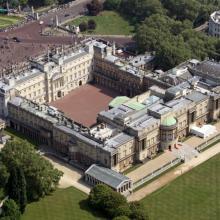Buckingham Palace desde el cielo