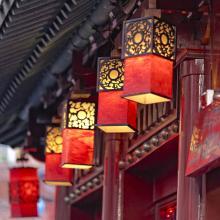 Fachadas de Chinatown