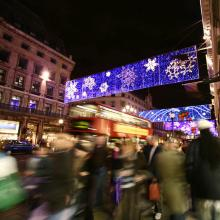 Oxford Street con luces de navidad