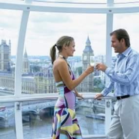 London Eye con champán